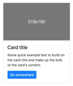 Bootstrap Cards Beispiel