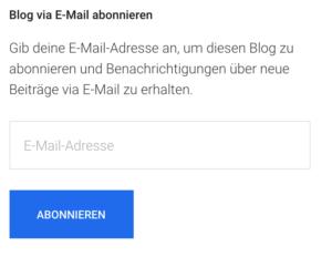 Kostenloses Newsletter-Widget von WordPress