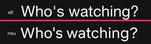 Netflix Sans und Gotham nebeneinander